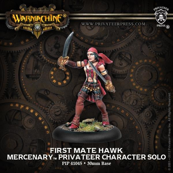 Warmachine: Mercenaries First Mate Hawk Privateer Character Solo