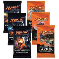 Magic the Gathering Bundle: 3 X Dragons of Tarkir and 3 X Magic Origins Booster Packs
