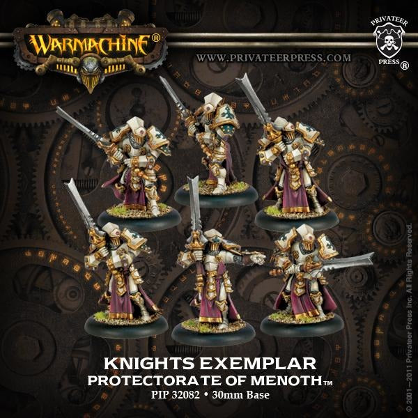 Warmachine: The Protectorate of Menoth Knights Exemplar Unit (Plastic)