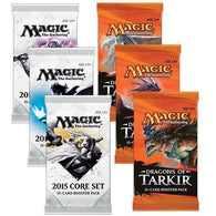 Magic the Gathering Bundle: 3 X Dragons of Tarkir and 3 X 2015 Core Set Booster Packs
