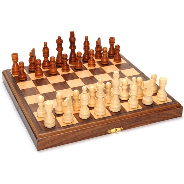 "Chess 11"" Wood Magnetic Folding"