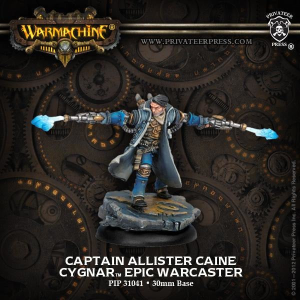 Warmachine: Cygnar Captain Allister Caine Epic Warcaster