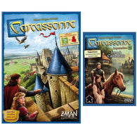 Carcassonne 2.0 Bundle: Core Plus Inns and Cathedrals Expansion