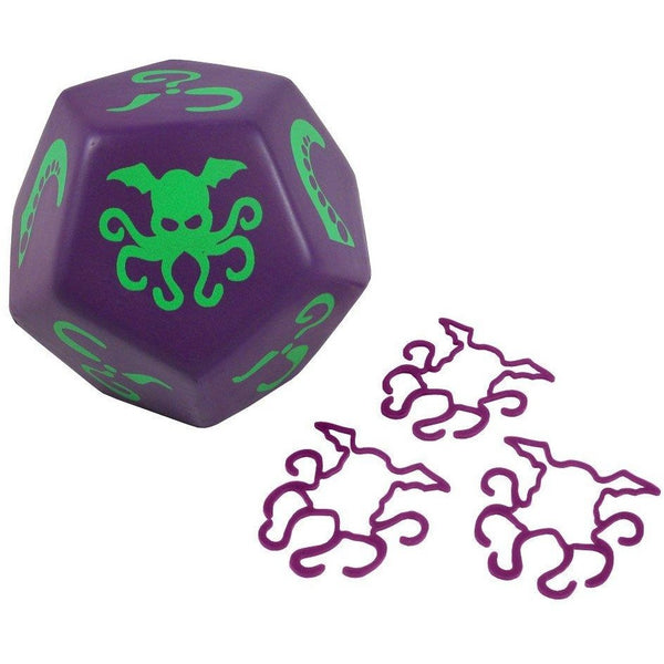 Giant Cthulhu: Purple/Nasty Green Foam Dice