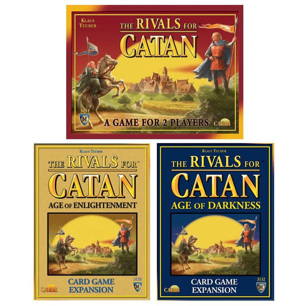 Rivals of Catan Bundle: Core Plus Age of Enlightenment and Darkness Expansion