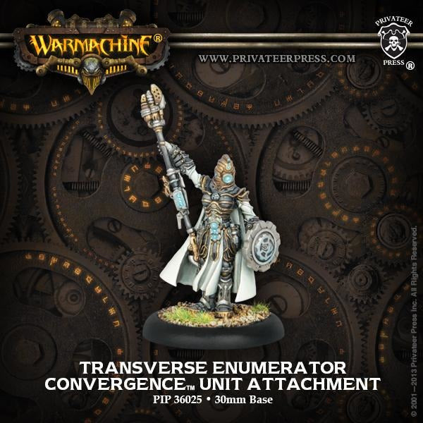 Warmachine: Convergence of Cyriss Transverse Enumerator Unit Attachment (White Metal)