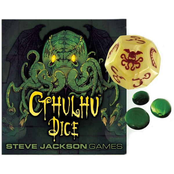 Cthulhu Dice: Bone With Red Ink