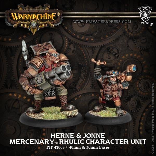 Warmachine: Mercenaries Herne and Jonne Rhulic Character Unit