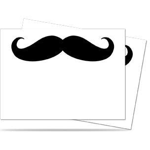 Mustachios White Deck Protector Pack