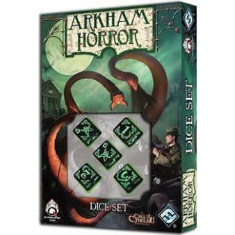 Arkham Horror Dice Set Black/Green (5)
