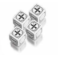 Antique Fudge Dice Set White/Black  (4