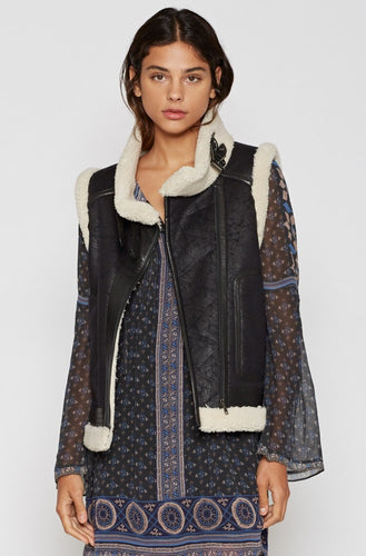 Joie - Faux Leather Vest
