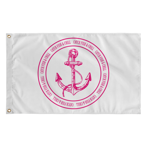 CATCH FISH & CHILL FISHING & CHILLING ANCHOR  FLAG