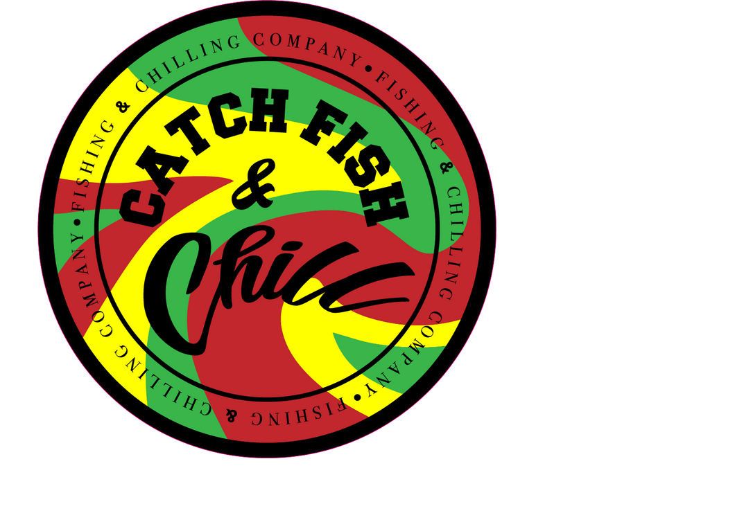 Catch fish chill stamp rasta sticker