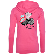 CATCH FISH & CHILL FISH WHISTLE  LADIES HOODIE SHIRT