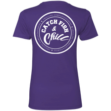 CATCH FISH & CHILL STAMP LOGO Ladies Boyfriend T-Shirt