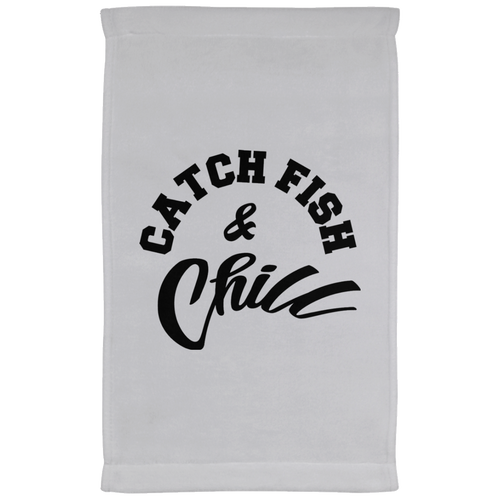 CATCH FISH & CHILL Bar Towel - 11 x 18 Inch