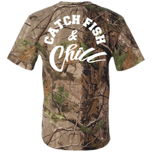 CATCH FISH & CHILL TREE Camo Tee