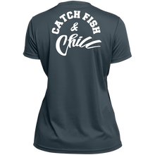 CATCH FISH & CHILL-Tek WOMENS Wicking T-Shirt