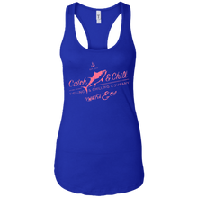 CATCH FISH & CHILL VINTAGE TUNA PINK LADIES RACERBACK TANK