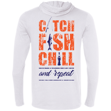 CATCH FISH & CHILL & REPEAT HOODIE SHIRT