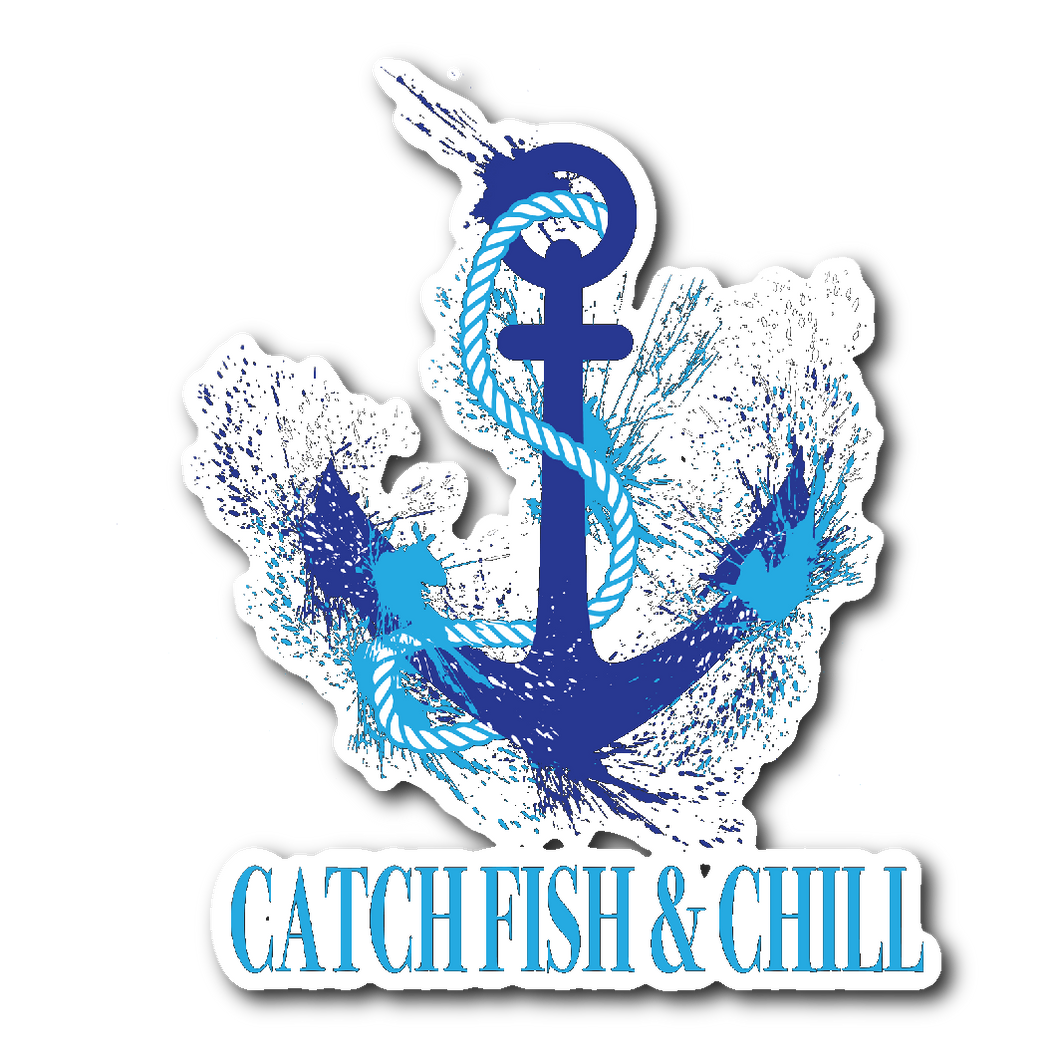 CATCH FISH & CHILL® ANCHOR SPLASH STICKER