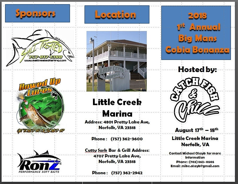BIGMANS COBIA BONANZA DEFENSE FUNDRAISER TOURNAMENT
