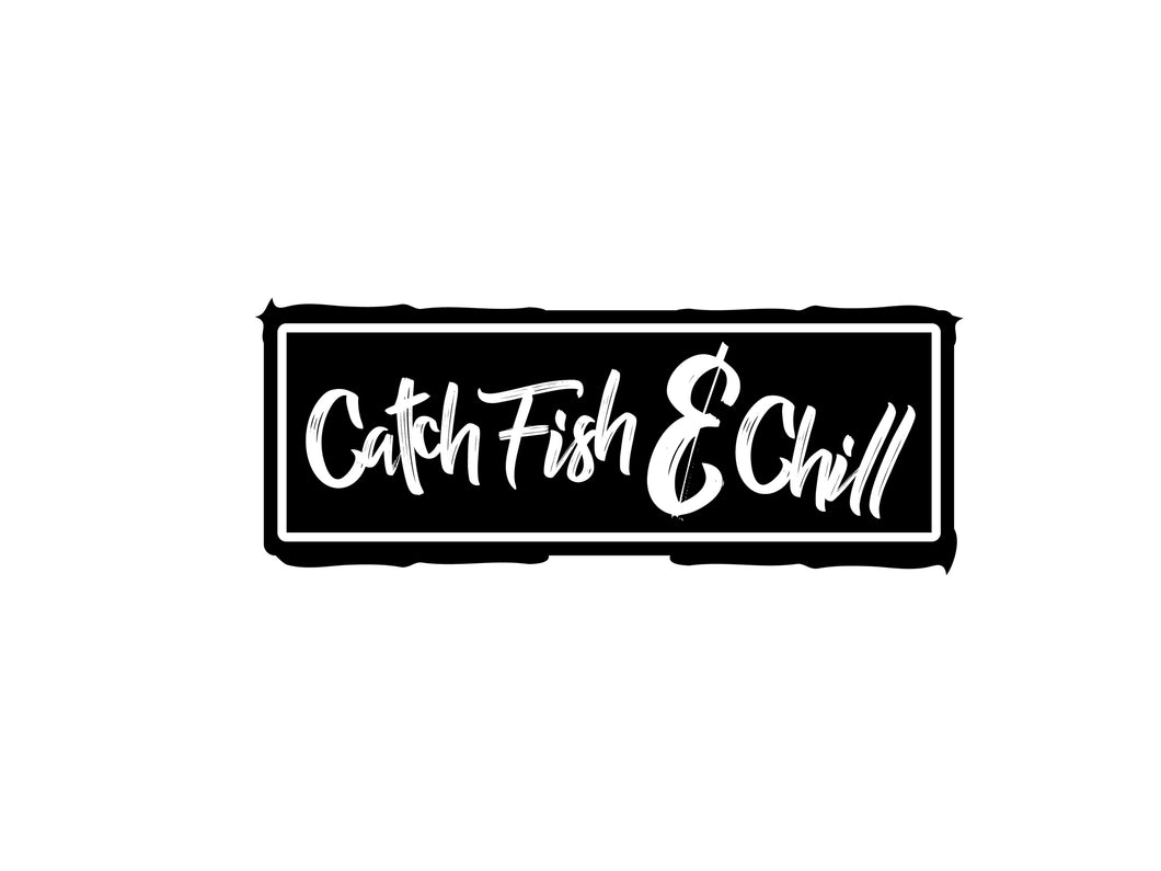 CATCH FISH & CHILL BOX LOGO TRANSFER