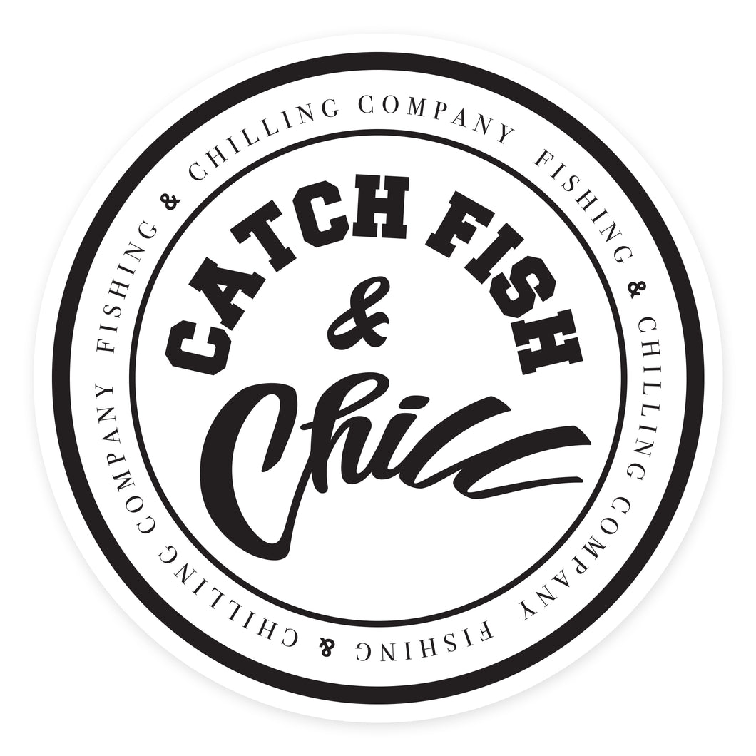 CATCH FISH & CHILL® STAMP WHITE