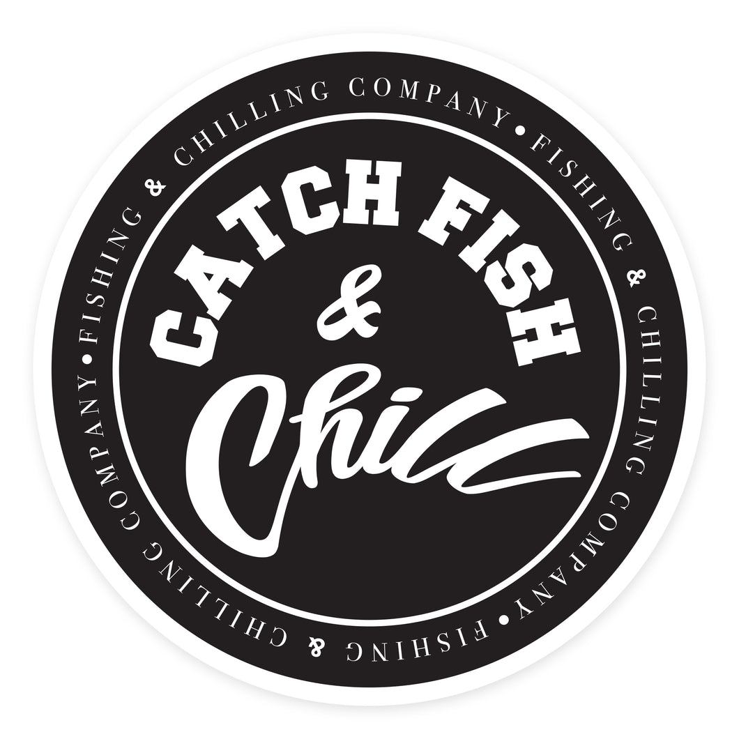 CATCH FISH & CHILL® STAMP BLACK