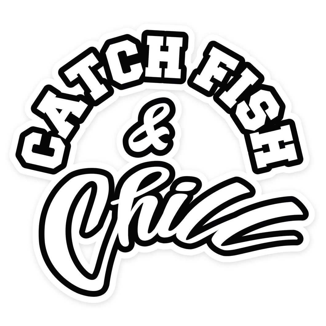 CATCH FISH & CHILL® DIE CUT STICKER
