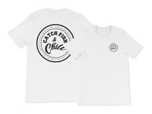 CATCH FISH & CHILL BLACK LOGO TRI-BLEND TEE
