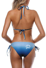 Catch FIsh & Chill Blue Gradient Bikini