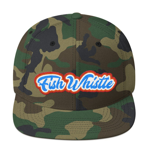 CATCH FISH & CHILL FISH WHISTLE FLAT BILL WOOL SNAP BACK