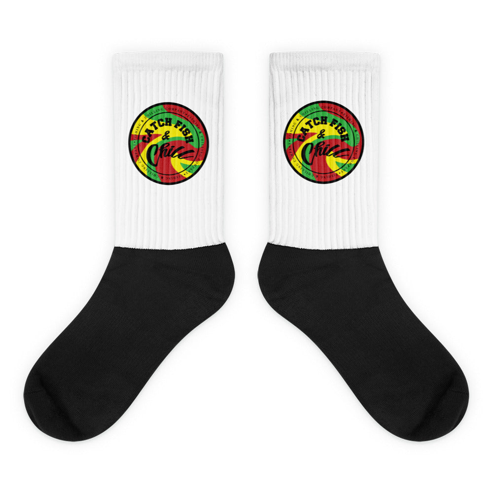CF&C RASTA STAMP SOCKS