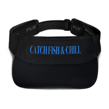 CATCH FISH & CHILL TEAL FLEXFIT VISOR