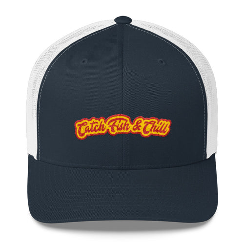 CATCH FISH & CHILL CHILLY TRUCKER HAT