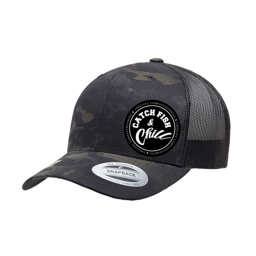 CATCH FISH & CHILL STAMP HAT