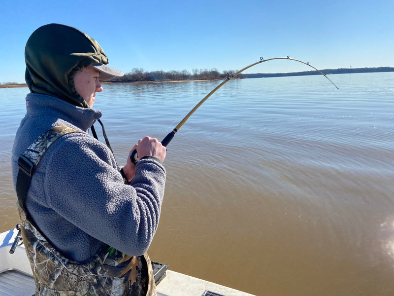 Winter Striper Fishing on Lake Texoma