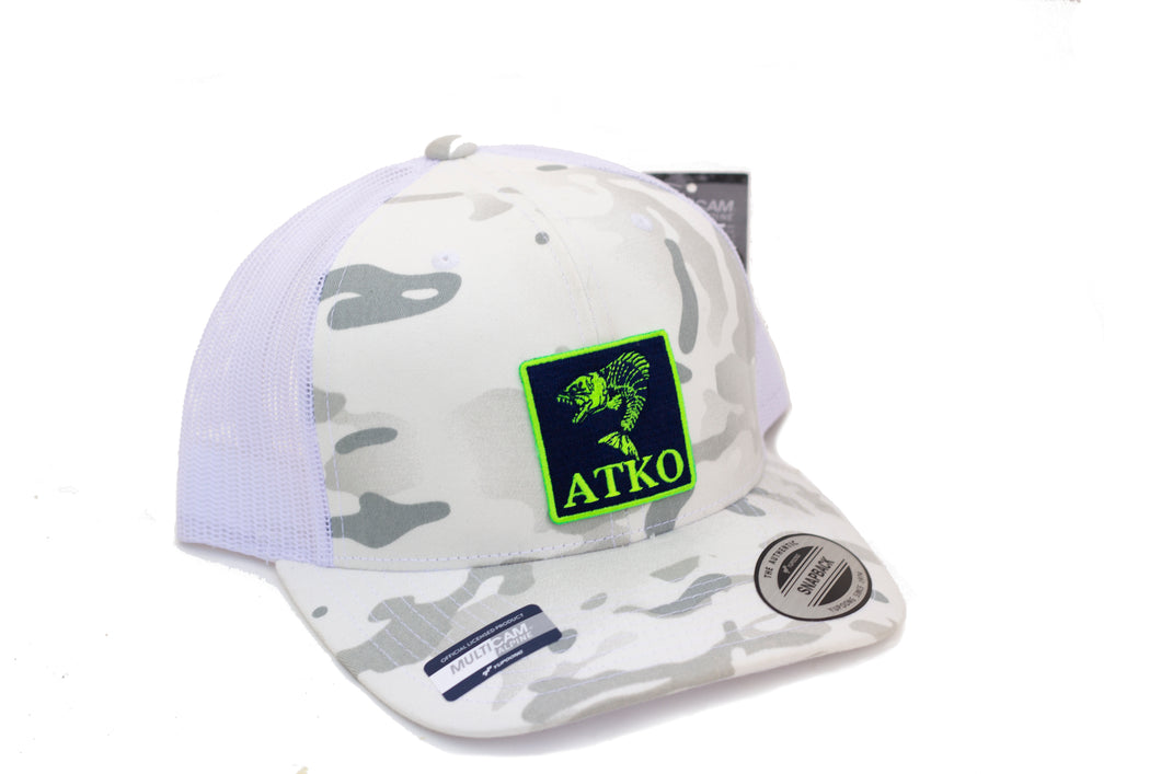 Atko White Multicam Trucker Hat