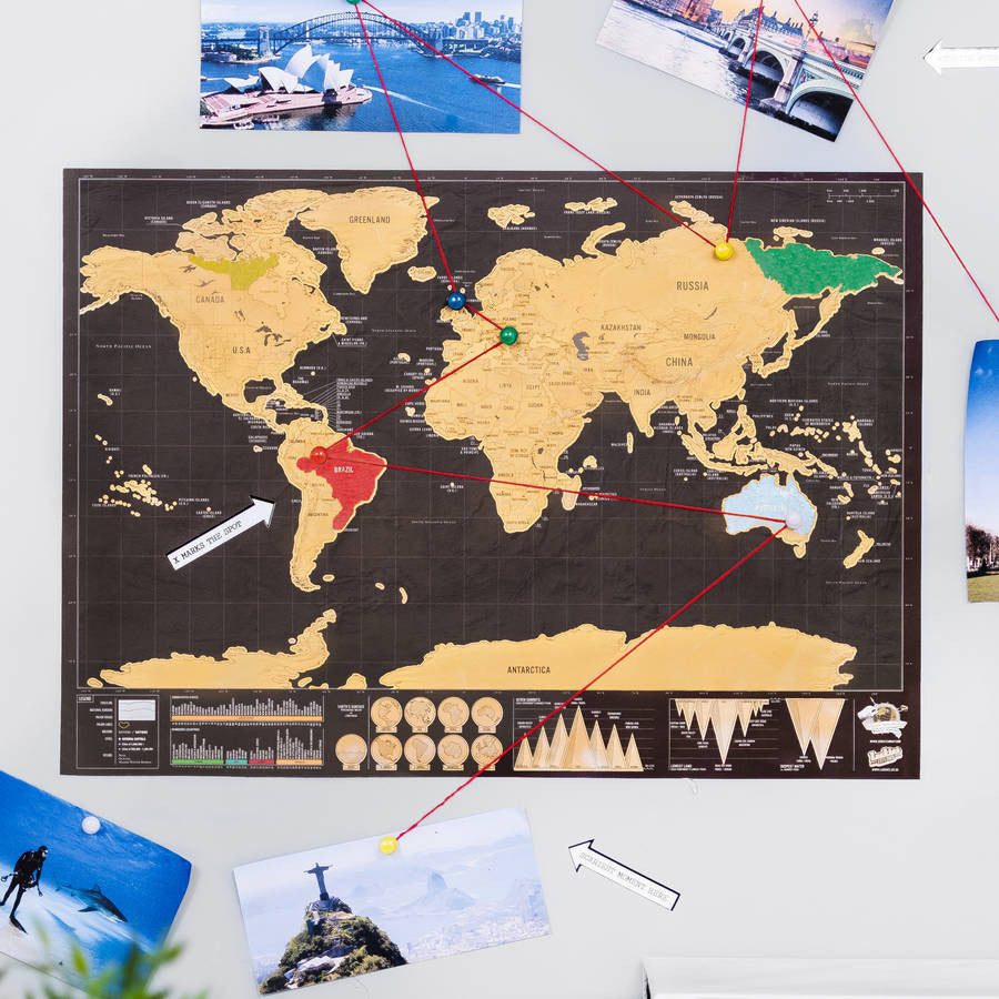 Premium Scratch-Off™ Personalized Travel Map Poster – Your ...