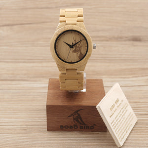 Limited Edition BOBO BIRD® Bamboo Deer Hunting Watch