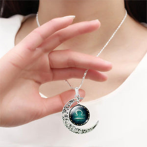 Zodiac Sign & Moon - Luxury Pendant Necklace for Women
