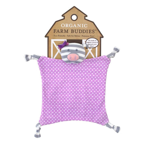 Apple Park Organic Farm Buddies Blankies - Penny The Pig