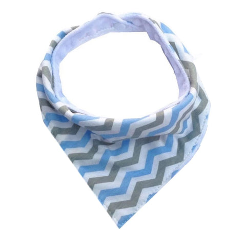 Blue Chevron Teether & Bib Set