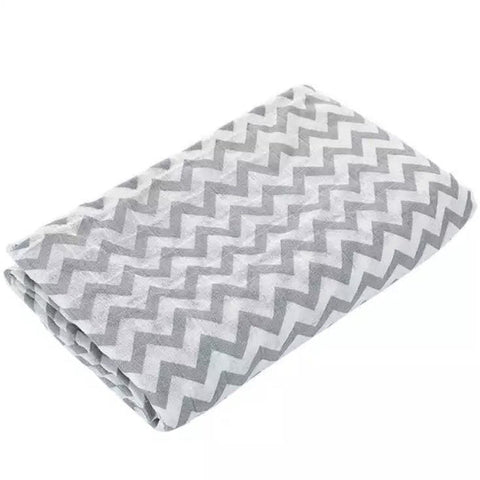 Grey Chevron Muslin Swaddle