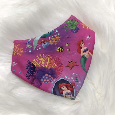 Skateboard or Mermaid Newborn Bibs