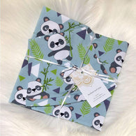 Panda Swaddle with Beanie Set