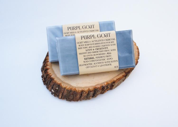 Goat Milk & Activated Charcoal Soap - Queya Beauty