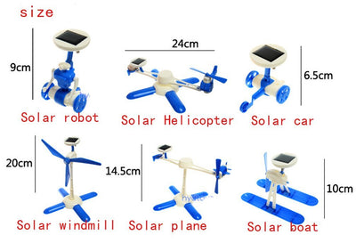 6 in 1 DIY Helicopter Solar Robot Kit
